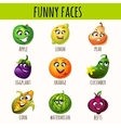 Set of expressive fruits and vegetables vector image vector image