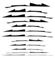 set of grungy brush strokes shapes to for rip vector image vector image