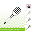 spatula simple black line icon vector image
