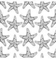 Starfish seamless pattern vector image vector image