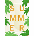 summer poster flat poster trendy capital vector image