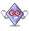 super hero rhombus character cartoon style vector image