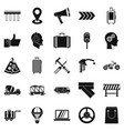 supplier icons set simple style vector image vector image