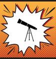 telescope simple sign comics style icon vector image