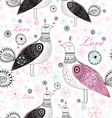 texture love birds vector image vector image