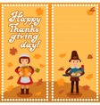 Thanksgiving day card with congratulations vector image vector image