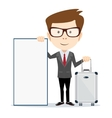 Travel vacation concept with luggage on white vector image vector image