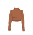 turtleneck long sleeve fashion style item vector image vector image