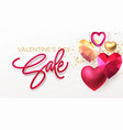valentines day sale background with realistic vector image vector image