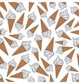 Vanilla gelato ice cream cones seamless pattern vector image vector image