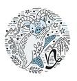zodiac signes capricorn vector image vector image