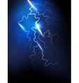 lightning in the night sky vector image
