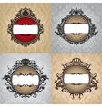 set of abstract royal vintage frames vector image