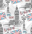 Big Ben seamless vector image