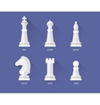 Chess flat icons vector image
