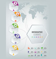 abstract 3d infographic template with 6 options vector image vector image