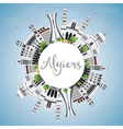 Algiers Skyline with Gray Buildings vector image vector image