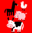 animal farm set vector image vector image