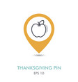 apple mapping pin icon harvest thanksgiving vector image vector image