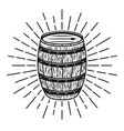 barrel with rays monochrome vector image