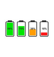 battery indicator icon vector image vector image
