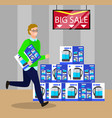 big sale on electronic appliances shopping vector image vector image