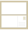 Blank postcard vector image vector image