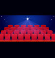 cinema hall with red seats vector image