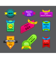 collection of beautiful premium labels vector image vector image