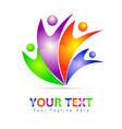 colorful people logo vector image