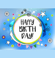 comic elements happy birthday vector image vector image