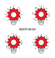 Creative Light Bulb and Gear Icon concept backgrou vector image vector image
