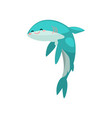 cute funny shark cartoon character vector image vector image