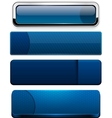 Dark-blue high-detailed modern web buttons vector | Price: 1 Credit (USD $1)