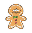 depress sad christmas holiday ginger bread cookie vector image vector image