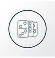 domino icon line symbol premium quality isolated vector image vector image