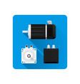 electric motor flat vector image vector image