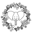 elephant with floral decoration bohemian style vector image