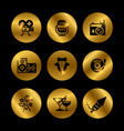 event party award black and gold icons vector image