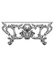 exquisite baroque console table engraved vector image vector image