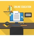 flat e-learning vector image vector image