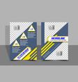 flyer design simple vector image vector image