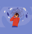 frustrated woman with nervous problem feel anxiety vector image