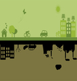 Green versus Industrial city vector image
