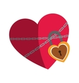 heart with padlock icon vector image vector image