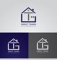 home icon logo design vector image