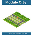isometric rail transport vector image