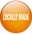 locally made orange round gel isolated push button vector image vector image