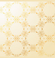 luxury golden floral decoration background vector image vector image