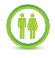 Man and woman volumetric icon vector image vector image